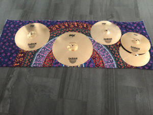 Sabian B8X cymbal pack and Mapex bass drum pedal