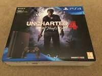 PS4 Slim Console w/Uncharted 4 Brand New