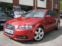 2008 Audi A3 2.0TDI ( 170PS ) Sportback S-Tronic S Line,RARE GARNET RED PEARL!!