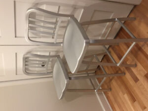 Attica metal bar stools.