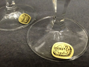 Collectible Antique Set of 6 Bohemia Crystal Sherry Glasses Neve London Ontario image 3