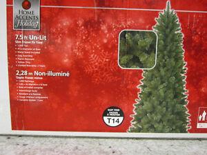 """7'5"""" Fraser Fir Christmas Tree - slim - Un-lit"""