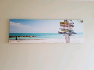 Canvas Print of Beach