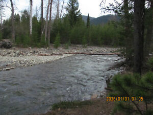 Beautiful 5 acres on the Creek near Creston