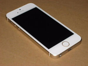 LIKE NEW 64GB IPHONE 5S+WHITE GOLD+UNLOCKED+ Accessories-$160