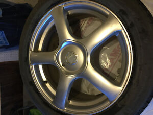 """18"""" rims with winter tires"""