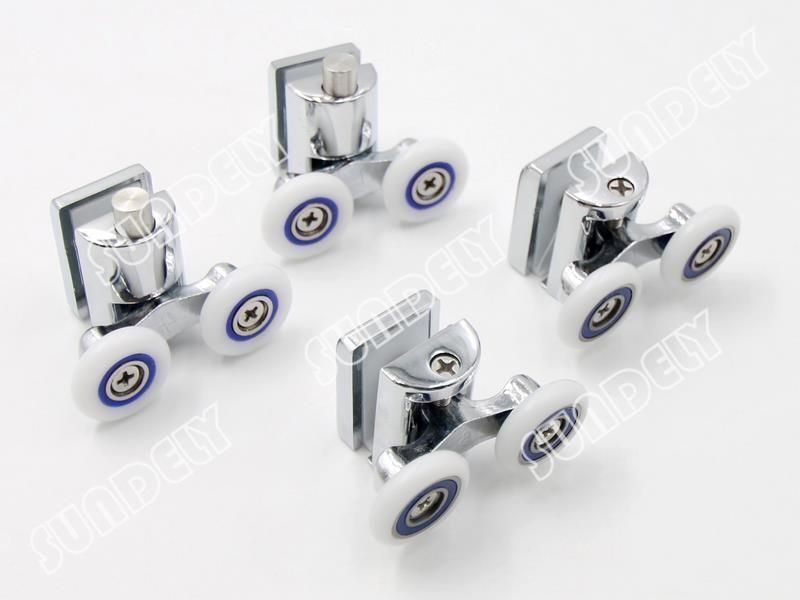 4x Shower Glass Door Rollers Runners Wheels Pulleys
