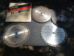 "SELECTION OF 10"" Carbide tipped blades"