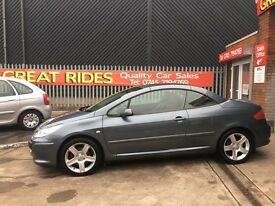 2005 (55) PEUGEOT 307 cc SE CONVERTIBLE DIESEL MANUAL 2.0 LONG MOT HARD TOP 75K MILES