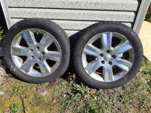 225/55 R19 Winter Tires on rims (2)