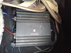 Sub amp stereo and wiring kit