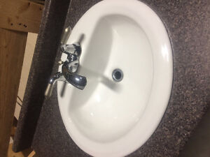 Porcelain sinks with Taps -$40 each or 3 for $100 Edmonton Edmonton Area image 2