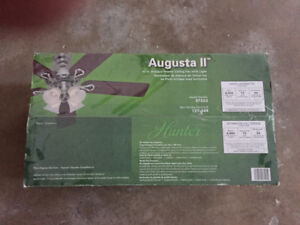 Augusta II hunter ceiling fan, original in box