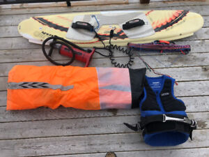 Kite boarding set up