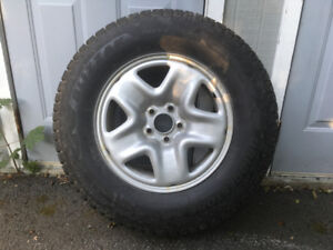 4 Bridgestone Blizzak DM V2 Winter Tires and Wheels 245/70R17