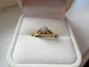 diamond solitaire ring with appraisal certificate