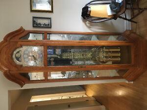Howard Miller Grandfather Clock Curio cabinet