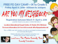 Free PD DAY Camp - JK to Grade 6