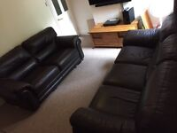 Leather 2 & 3 seater sofa really good condition cost £2000 new