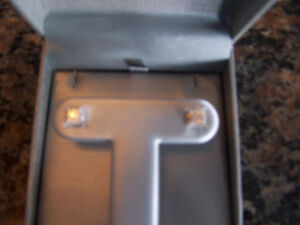 1/4 CTTW Diamond Stud Earrings in Sterling Silver (New)
