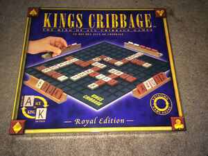 Kings Cribbage Board Game - 100% Complete - Excellent Condition
