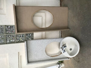 Bathroom tops and sink with faucet