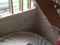 Parging and Stone Veneer - Interior and Exterior