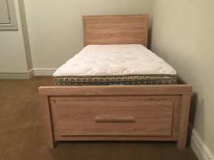 Twin Bed and Mattress - Good Condition