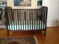 Caramia MOLLY CRIB solid birch and MATRESS+FREE fitted sheets