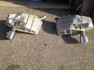 Pair of Stainless tipped Mufflers