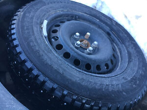 Set of 4 Studded Winter Tires & Rims