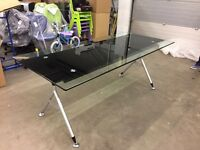 2000mm x 900mm glass boardroom / meeting table