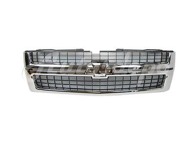 For 2007-2010 SILVERADO 2500HD 3500HD GRILLE BLACK INSERT WITH CHROME FRAME