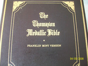 For sale The Thomason Medallic Bible / Franklin Mint Edition .