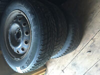 4 WINTER TOYOTA YERS RIMS AND TIRES