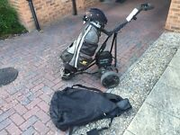 Electric golf cart + bag+ cover