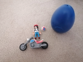 Playmobil 5280 Easter egg biker with motorcycle chopper rare