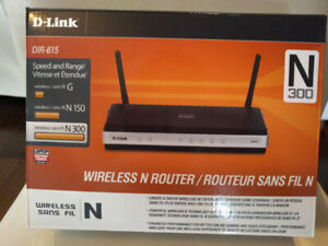 Brand New Unboxed D-Link DIR-615 Wireless N Router (N 300)