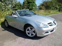 MERCEDES SLK SLK200 KOMPRESSOR FULL LEATHER ALLOYS STUNNING, Silver, Auto, Petro