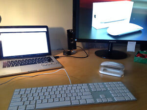 Apple keyboard and magic mouse