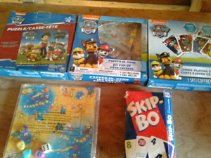 Paw patrol board games/snakes ladder