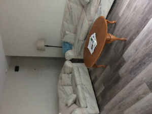 Two couches, coffee table, end table , dining table and chairs