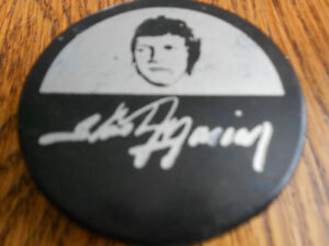 Rare Vintage Stastny Hockey Puck,  NHL Player Signed