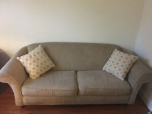 Large couch and matching sofa chair