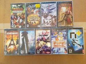 9 PSP playstation portable games