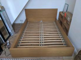 IKEA Malm Double Bed Oak