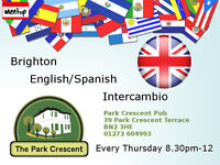 Brighton English/Spanish Language Exchange º°°º Thursdays 8.30pm º°°º Park Crescent Pub