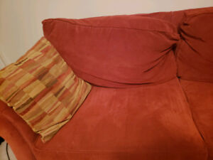 Pull out Sofa Soft Bed Sleeper Sofa - Rust Orange: Excellent Con