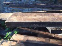 Pine straight edge boarding