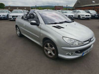 2006 Peugeot 206 1.6 16v Coupe Cabriolet Allure MANUAL PETROL CONVERTIBLE